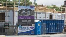 A condo development site on the corner of the Upper Lachine road and Wilson is shown in Montreal, Monday, June 17, 2013. (Graham Hughes For The Globe and Mail)