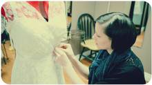 Introducing Patty Nayel, the creator of Pure Magnolia. The Vancouver-based company is committed to using sustainable fabrics to create couture gowns and bridesmaids dresses. (Simply Rose Photography)
