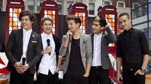 The band One Direction performs on NBC's Today show in New York, November 13, 2012. (ANDREW BURTON/Reuters)