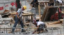 File photo of work being done on a condominium construction site in Toronto. (Deborah Baic/Deborah Baic/The Globe and Mail)