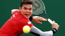 Milos Raonic is looking for his first ATP Tour win on clay. (ERIC GAILLARD/REUTERS)