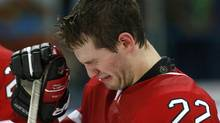 Canada's Boone Jenner cries after Canada was defeated by Russia in the bronze medal game at the 2013 IIHF U20 World Junior Hockey Championship in Ufa January 5, 2013. (Reuters)