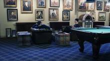 A pool table, a pinball machine, board games and Lego dot the Stockholm offices of Mojang, the small Swedish company behind the wildly popular Minecraft video game. (INTS KALNINS/REUTERS)