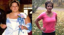 Janine Scott before and after her 100-pound weight loss.