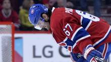 Montreal Canadiens forward Max Pacioretty reacts at the end of the game against the Buffalo Sabres, a loss that was just the latest in a string of dispiriting defeats for the team. (Eric Bolte/USA Today Sports)