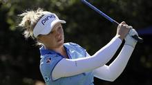 Brooke Henderson follows her drive from the 10th tee during the final round of the U.S. Women's Open golf tournament on July 10, 2016, in San Martin, Calif. (Eric Risberg/AP)