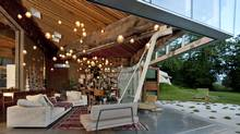 The 23.2 House turns its powerful, kinetic, occasionally gaping pavilion onto a hay field in White Rock, B.C.