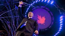 Prime Minister Stephen Harper waves to the crowd following after his election-night victory speech in Calgary on May 2, 2011. (JONATHAN HAYWARD/Jonathan Hayward/The Canadian Press)