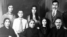 Knar Yemenidjian, back row left, is seen with her family in Egypt in 1931. Her father is situated on the bottom row, far right. (Courtesy of the Yemenidjian family)