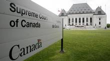 The Supreme Court building in Ottawa is seen in this file photo. (Sean Kilpatrick For The Globe and Mail)