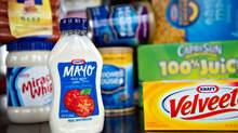 Various Kraft Foods Inc. snack and grocery products are arranged for a photograph in Tiskilwa, Illinois, U.S., on Tuesday, Jan. 17, 2012. (Daniel Acker/Bloomberg)