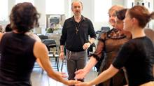 Choreographer James Kudelka works with his cast during a rehearsal for the House of Mirth at the Citadel in Toronto on April 27, 2012. (J.P. Moczulski for The Globe and Mail)