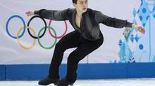 Canada's Patrick Chan competes in the men's portion of the figure skating team event at the Sochi Winter Olympics Thursday, February 6, 2014 in Sochi. (Paul Chiasson/THE CANADIAN PRESS)