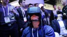 Virtual reality's breakthrough could be the hot topic of 2016. There will be more than 40 augmented or virtual-reality booths at CES pitching an array of devices, experiences and services. (Jae C. Hong/AP Photo)