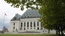 The Supreme Court of Canada is seen in Ottawa on Oct. 17, 2011. (Adrian Wyld/THE CANADIAN PRESS)