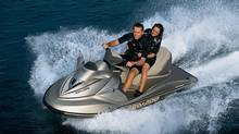 Tempted to take a spin by buying stocks in BRP Inc.? It makes Ski-Doo snowmobiles and Sea-Doo boats. (Bombardier Inc.)