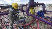 An example of an Encana fracking operation in Colorado in March 2013. (Brennan Linsley/The Canadian Press/AP)