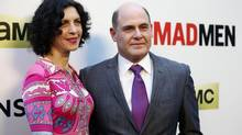 "Creator of the show Matthew Weiner and his wife Linda Brettler pose at the premiere for the seventh season of the television series ""Mad Men"" in Los Angeles, California in this file photo taken April 2, 2014. In his directorial feature film debut ""Are You Here,"" out in theaters on August 22, 2014, Weiner wanted to tackle the reality of a male friendship through actors Owen Wilson and Zach Galifianakis, showing two grown men in a state of arrested development. (MARIO ANZUONI/REUTERS)"