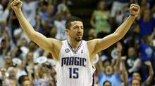 Hedo Turkoglu of the Orlando Magic celebrates. (Elsa/2009 Getty Images)