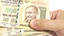 Indian rupee notes. British Columbia became the first government to issue offshore bonds denominated in India's currency, as the province plans to boost trade with the world's fastest-growing major economy. (Yurchello108/Getty Images/iStockphoto)