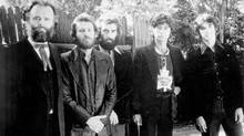 The Band, comprised left to right of Garth Hudson, Levon Helm, Richard Manuel and Robbie Robertson, whose Testimony recounts the life and times of one of Canada's most iconic contributions to the rock 'n' roll cannon.
