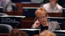 Shelley Carroll, City Councillor for Ward 33, Don Valley East and Toronto's Budget Chief during the 2007 Budget Debate in the Counsel Chambers of Toronto City Hall in Toronto. 23/04/07 (Deborah Baic/Deborah Baic/THE GLOBE AND MAIL)