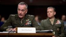 Joint Chiefs Chairman Gen. Joseph Dunford testifies on Capitol Hill in Washington on Sept. 22, 2016. (Andrew Harnik/AP)