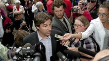 New Brunswick Liberal Leader Shawn Graham in Fredericton on Aug. 26. (David Smith/The Canadian Press)