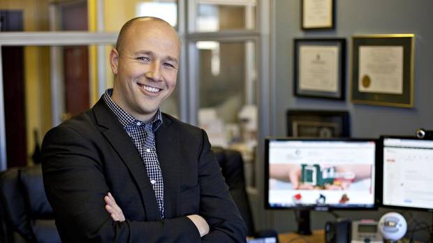 Gordon McCallum is the president of First Foundation Inc., a company that helps home buyers in Alberta find the best mortgages available. (Jason Franson/The Globe and Mail)