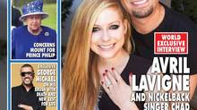 Detail from the cover of Hello! Canada magazine, which features the story of the engagement of Avril Lavigne and Chad Kroeger (Robb Dipple/CP)
