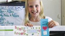 "Taylor Clapham, aged 10, was drawn to give to Sunnybrook because of her grandfather. ""He had a heart attack and he went to Sunnybrook and he is still alive today,"" she wrote to the hospital as part of a Project Give Back assignment she did in class. ""Because of you I have learned that giving back to the community is not hard. You just have to put a little heart into it."""