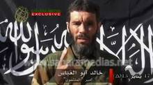 Veteran jihadist Mokhtar Belmokhtar speaks in this undated still image taken from a video released by Sahara Media on Jan. 21, 2013. Chadian soldiers in Mali claim to have killed Belmokhtar, the al-Qaeda mastermind of a bloody hostage-taking at an Algerian gas plant in January. (Reuters)