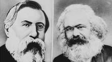 Frederick Engels and Karl Marx, authors of the Communist Manifesto