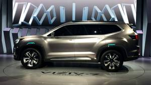 <p> The Subaru Viziv-7 is unveiled at the L.A. Auto Show on Nov. 17, 2016. </p>