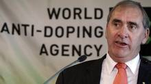 The President of the World Anti-Doping Agency (WADA), John Fahey, talks during a news conference. (Reuters)