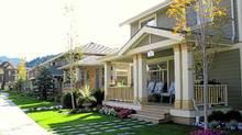 Homes along Nicomen Cres., Chilliwack, B.C., after refurbishing. (Credit Canada Lands Co.)