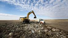 Caterpillar has seen its stock dip 30 per cent since February, and is not trading at a discount most analysts think is unwarranted. (Daniel Acker/Bloomberg)