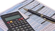 File #: 3207438 Canadian tax forms with calculator and pen isolated on white Credit: iStockphoto (Royalty-Free) Keywords: Tax, Canada, Tax Form, Form, Finance, Calculator, Government, Business, payable, Three Objects, Color Image, Horizontal (John Tomaselli/iStockphoto)