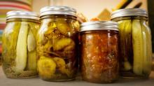 In addition to salsas, tomato sauce and chutneys, Padwick and Donald also tried their hand at jumbo garlic dill pickles.