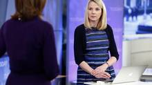 """Yahoo Chief Executive Marissa Mayer (R) appears on NBC News' """"Today"""" show in New York, February 20, 2013. (HANDOUT/REUTERS)"""