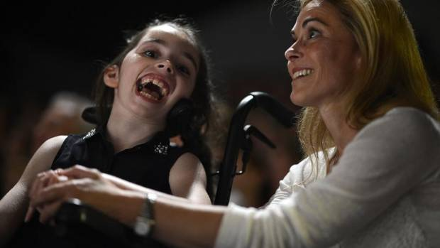 Last year, Sophie Sullivan, 9, fell while skiing, and a rupture in an arteriovenous malformation – a tangle of blood vessels in her brain – left her unable to speak or move. (Fred Lum/The Globe and Mail)
