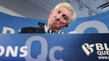 Bloc Leader Gilles Duceppe addresses a campaign rally in Montreal on April 10, 2011. (Christinne Muschi/Reuters/Christinne Muschi/Reuters)