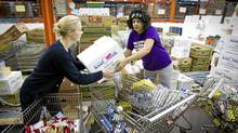 Distributions of food are shrinking at the Greater Vancouver Food Bank Society because of a drop-off in corporate and individual donations this year, its chief executive officer says. (John Lehmann/The Globe and Mail/John Lehmann/The Globe and Mail)
