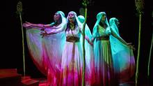 The chorus in the Stratford Festival's Bakkhai sing and dance their commentary to the electronica-tinged setting of the translation. (Cylla von Tiedemann/Globe and Mail Update)