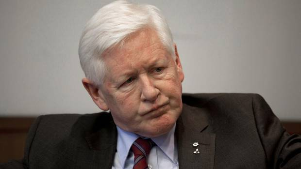 Interim Liberal leader Bob Rae talk with The Globe and Mail editorial board April 12, 2013.