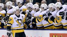 Pittsburgh Penguins centre Sidney Crosby says his team has been 'pretty consistent' this season as they try to defend their Stanley Cup title. (Frank Gunn/THE CANADIAN PRESS)