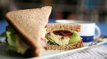 Chopped eggs and Caesar salad, two of Lucy Waverman's favourite foods, are combined in her Caesar egg salad sandwich. Pair it with a delicious soup for the perfect winter dinner. (DAVE CHAN/DAVE CHAN/THE GLOBE AND MAIL)