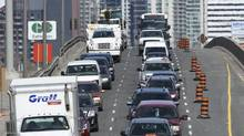 Long-term lane closings on the Gardiner and construction ahead of the Pan Am Games is sure to increase commuter stress. (Fred Lum/Fred Lum/The Globe and Mail)