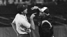 In this Aug. 16, 1979 file photo, Baltimore Orioles manager Earl Weaver argues with third base umpire Steve Palermo, after Palermo ejected him during the second inning of a baseball game against the Kansas City Royals, in Baltimore (The Associated Press)