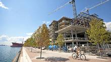 Construction continues on the George Brown College campus on the Toronto waterfront. (Tim Fraser for The Globe and Mail)